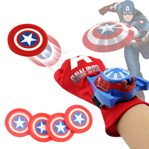 Hot Marvel Avengers Super Heroes Glove Laucher Props