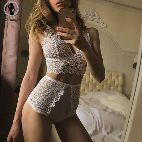 ALINRY new lace embroidery bralette erotic lingerie 2018 Hot Sale