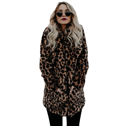 YJSFG HOUSE Luxury Faux Fur coat for Women