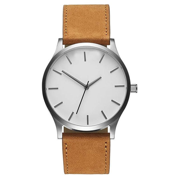 white-dial-brown