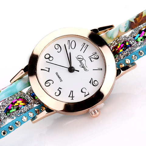 2018 Hot Brand Luxury Watches Women Flower Diamond