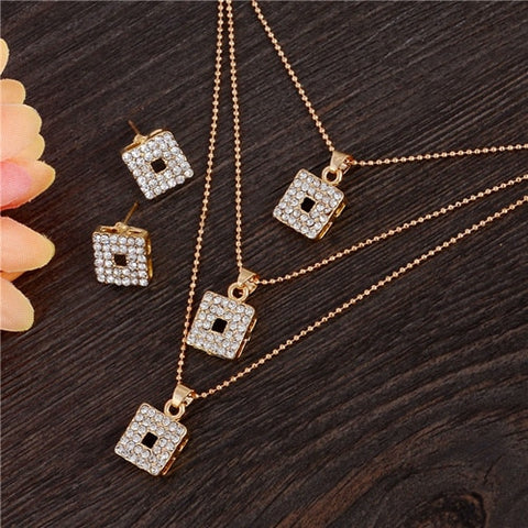 ZOSHI Golden Plated Jewelry Sets For Women Luxury Wedding