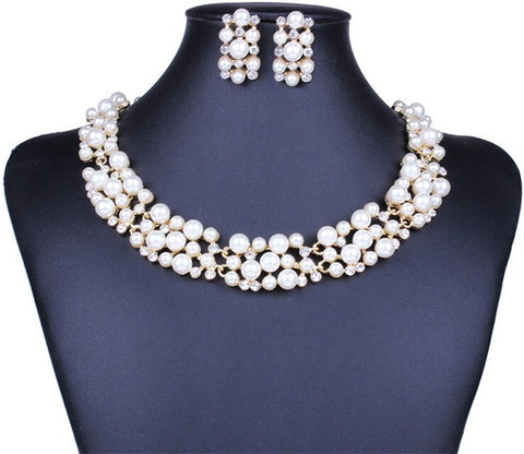 ZOSHI Elegant Simulated Pearl Bridal Jewelry Sets