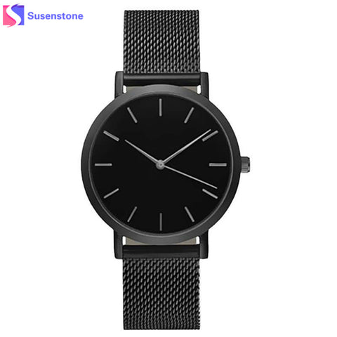 Women Fashion Stainless Steel Strap Analog Quartz 2018