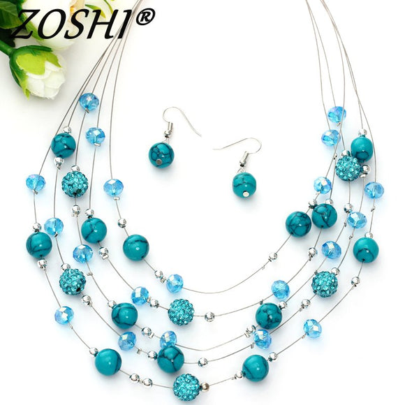 Fashion Jewelry Sets Women Joker Bohemian Crystal