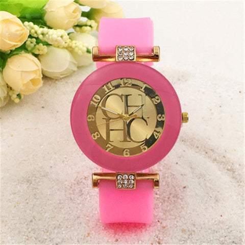 2018 Hot Sale Leather Brand Geneva Casual Quartz Watch Women