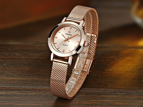 WWOOR Women Dress Watches Luxury Brand 2018