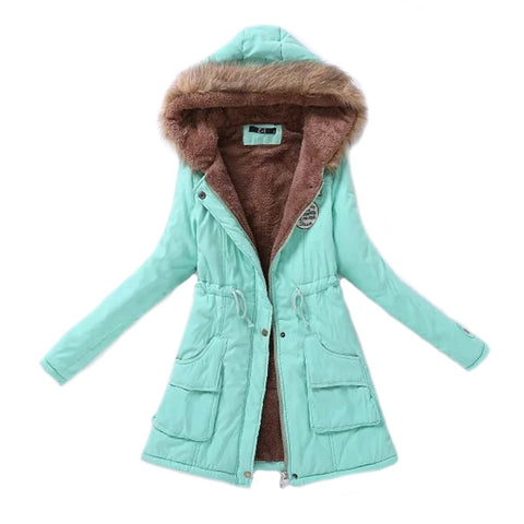 Women Parka Fashion Autumn Winter Warm Jackets
