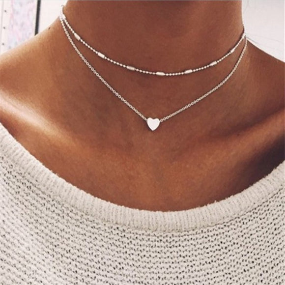 FASHION JEWELRY Love Heart Adjustable Necklace
