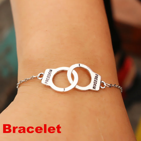 N2039 Handcuff Pendant Necklace For Women Men 2018