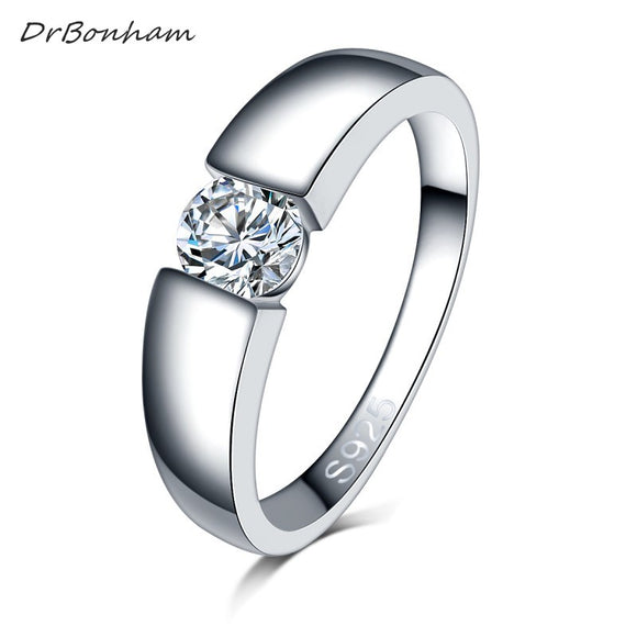 Drop shipping men silver color wedding Ring Engagement Rings