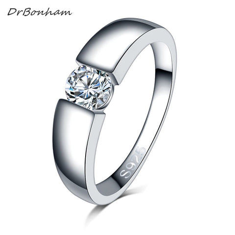 Drop shipping men silver color wedding Ring Engagement