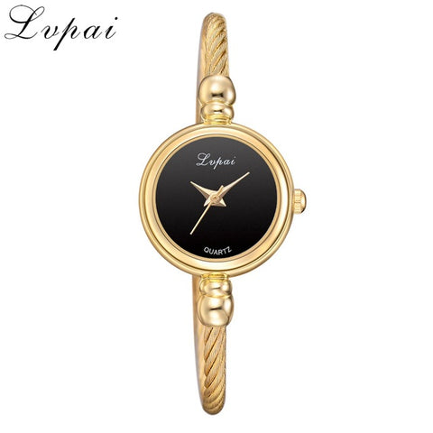 Lvpai Women Small Gold Bangle Bracelet Luxury Watches