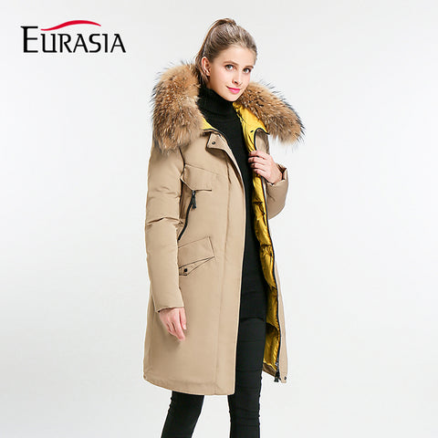 Eurasia New Full Solid 2018 Women's Mid-long