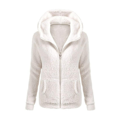 Hot Women Solid Color Coat Thicken Soft Fleece