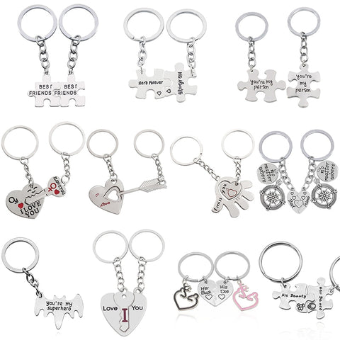 "2 Pcs/Set Puzzle Letter ""You're My Person"" Couple Keychain"