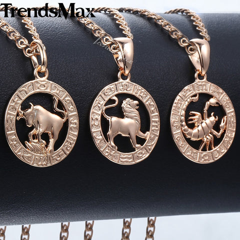 Trendsmax 12 Zodiac Constellations Pendants Necklaces