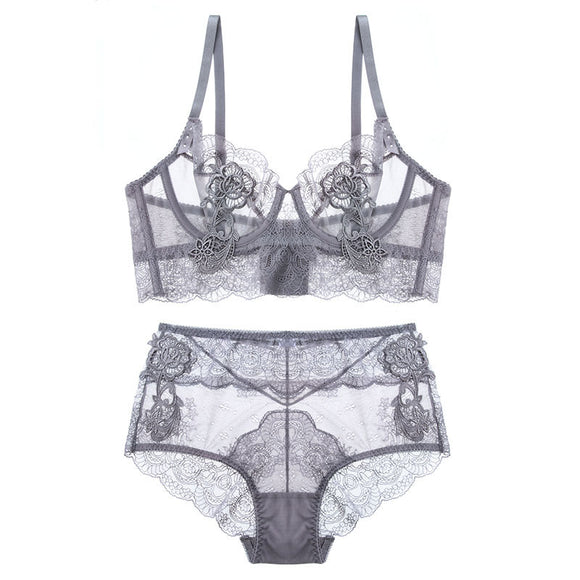 New Gather Adjusted Thin Cup sexy Lingerie Bra