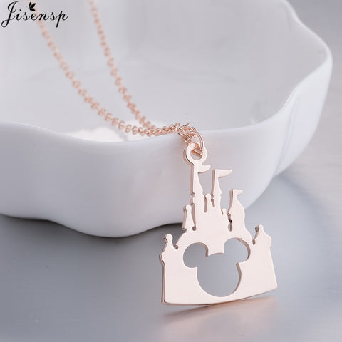 2018 Fashion Mickey Head Necklace Lovely Long Chain