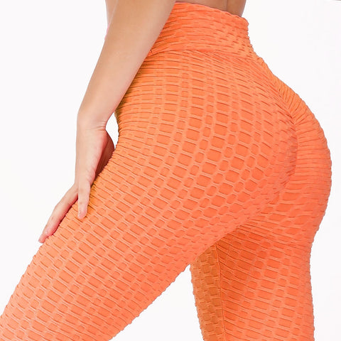 Women Pink High Waist Fitness Breathable Leggings