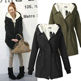 Women Parkas Winter Coats Hooded Thick Cotton