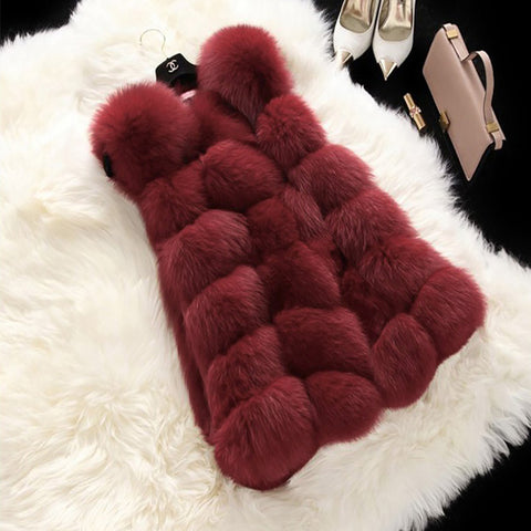 FLULU Winter Casual Faux Fur Coat Women 2018