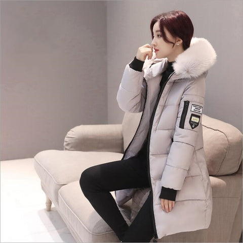 2018 women hooded warm coat winter jackets
