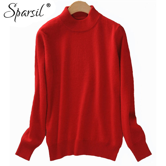 Sparsil 2018 Sweater Women Christmas Knitted