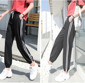 Arfreeker Fashion Casual Sweatpants Pants Side-Stripe