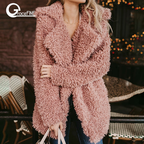 Fluffy long faux fur coat women Thicken Winter fur
