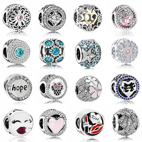Hot Sale Party Beads Hope Flowers Love Hearts Crystal Charms