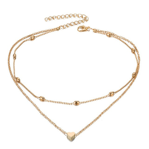 FAMSHIN Fashion Gold Silver Color Jewelry Love Heart