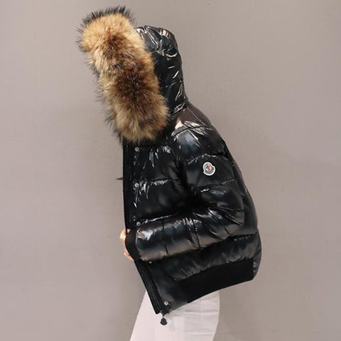 Winter jacket women fur coat new bright coat