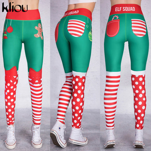 Kliou 2018 New Hot Sale Christmas festival Leggings