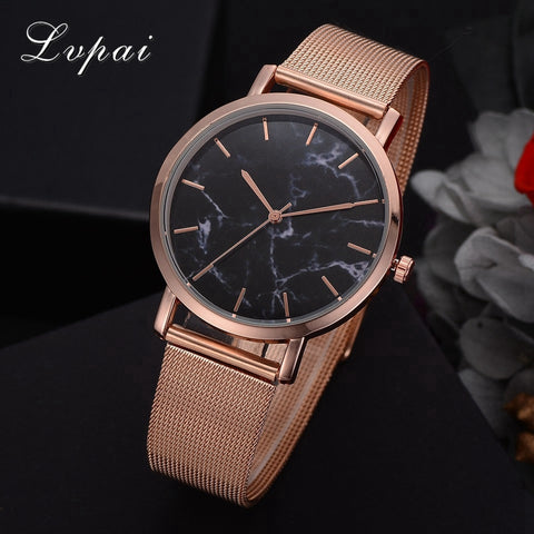 Lvpai Dropshiping Fashion Rose Gold Mesh Band