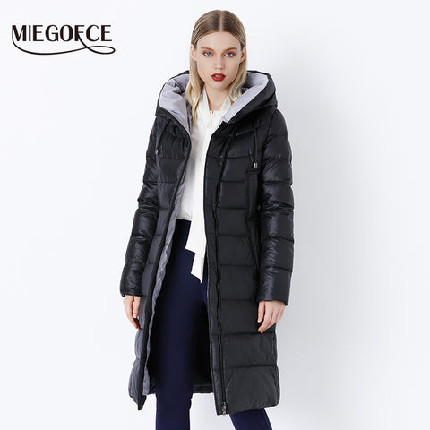 MIEGOFCE 2018 Coat Jacket Women's Hooded Warm