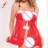 Feitong 2018 Hot Sale Christmas Lingerie Bra Sets