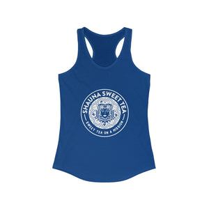 Women's Ideal Racerback Tank - White Logo