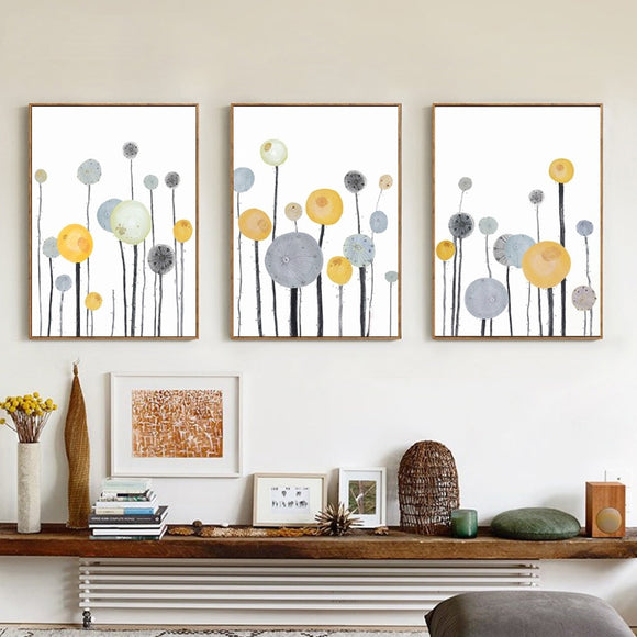 Nuomege Modern Simple Abstract Tree Canvas Painting Pictures