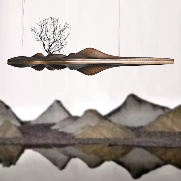 Wood Pendant Light Chinese Japanese Nordic Creative Retro Branch