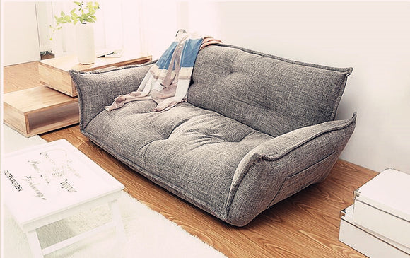 4d85be1ede72 Modern Design Floor Sofa Bed 5 Position Adjustable Sofa Plaid Japanese  Style Furniture Living Room Reclining
