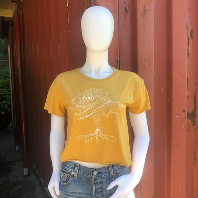 Yellow ROOTS Crop Tee