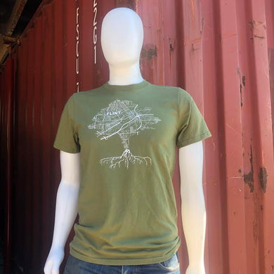 Green ROOTS Tee