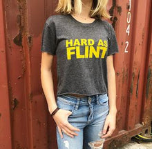 Yellow Hard As Flint Logo Crop Tee