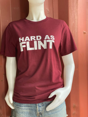 Burgundy Hard As Flint Logo Tee