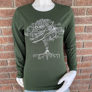 Ladies Long Sleeve Roots Tee