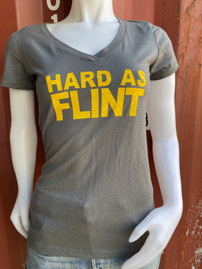 Hard As Flint Ladies V-neck
