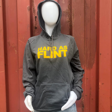 Yellow Hard As Flint Logo Pullover Hoodie