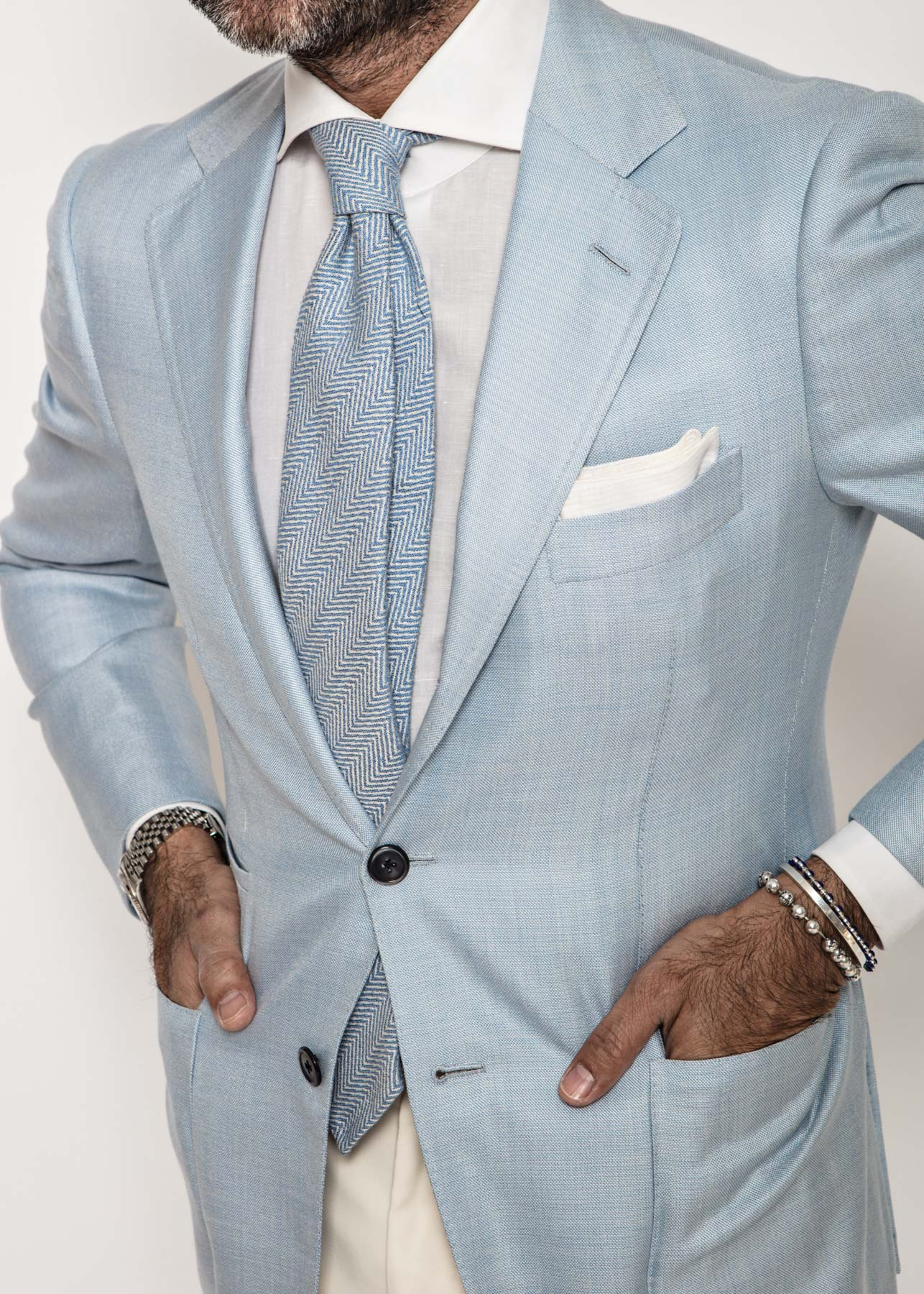 James Sport Coat in Ice Blue