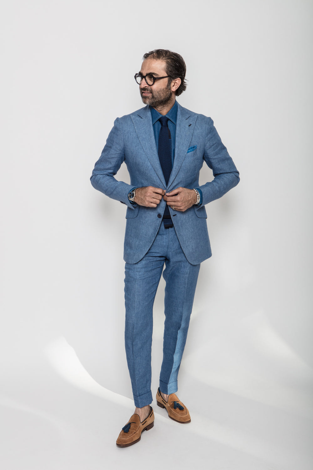 James Suit in Soft Linen